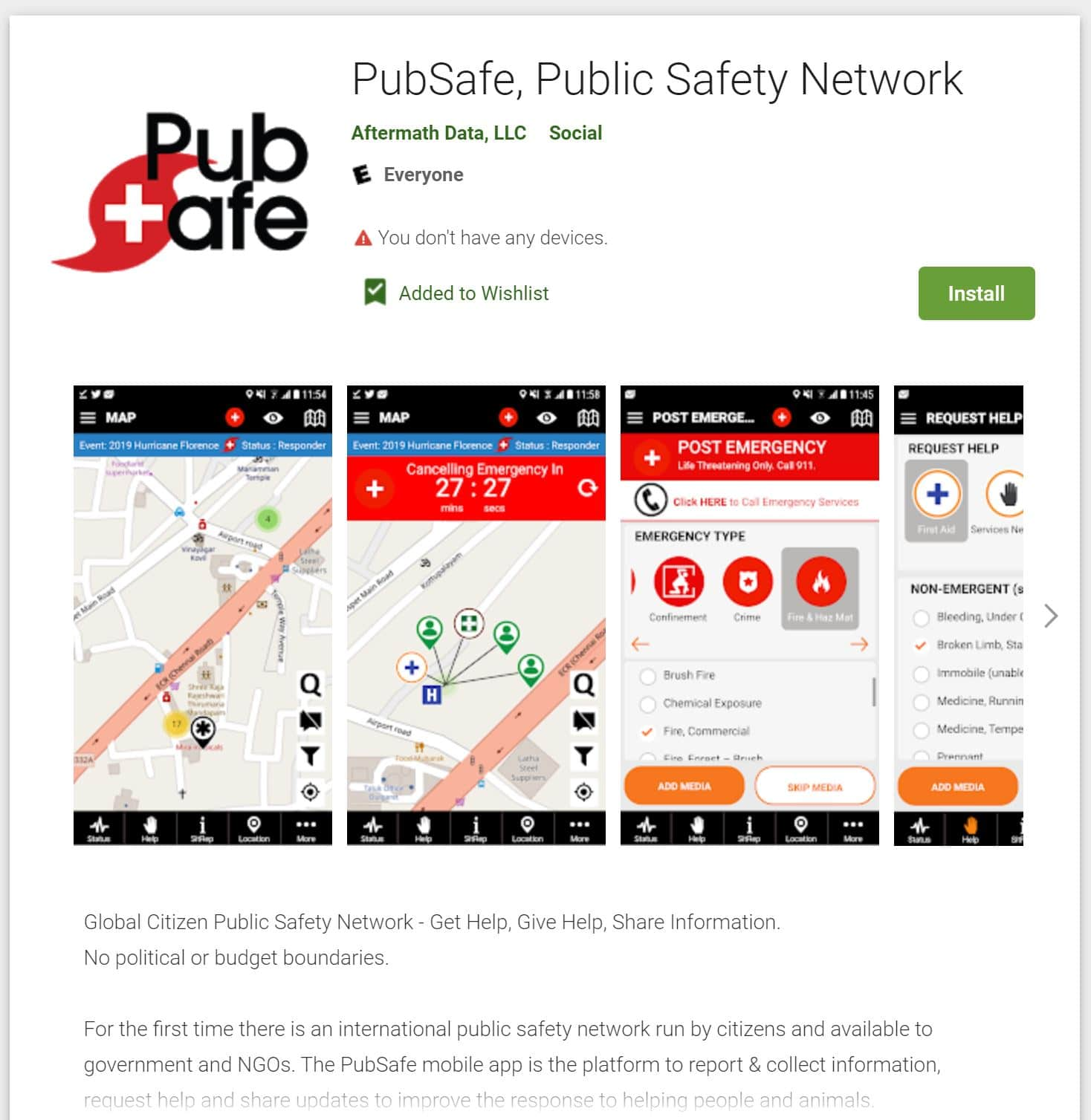 PubSafe Public Safety Community Google Play Store