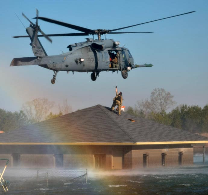 Helicopter Flood Rescue