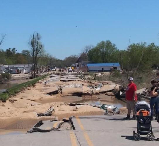 Weather Flood Damage to Road